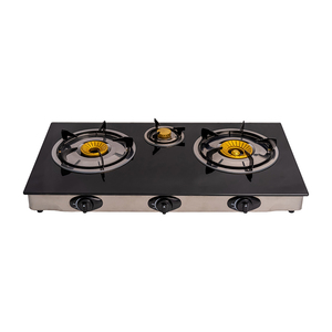 TEMPERED GLASS THREE BURNERS